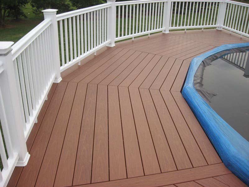 Deck railing pvc sustainable rich color plr distribution for Sustainable decking